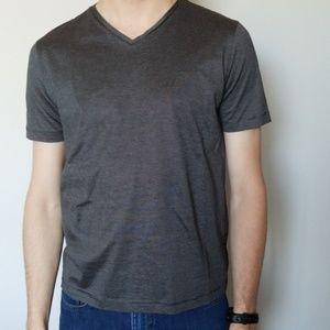 Hugo Boss | Gray Short Sleeve V-Neck Tee Regular M